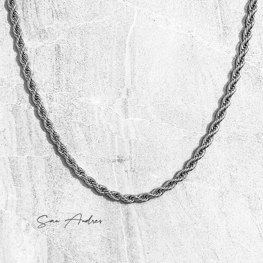 Classic Silver Rope Chain - San Andrés