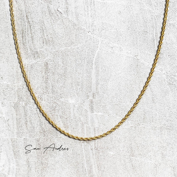 Classic Gold Mini Rope Chain - San Andrés