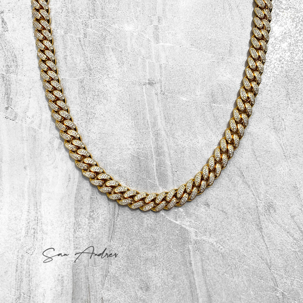 Premium Iced Out Curb Link Chain - San Andrés