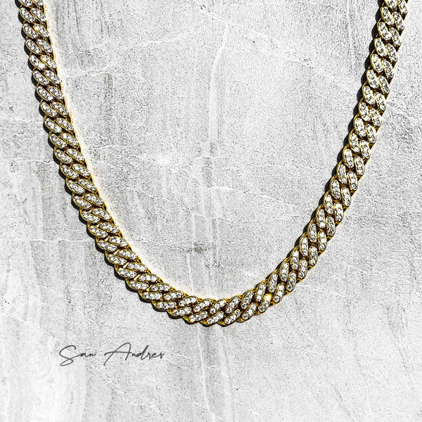 Iced out gold cuban chain - San Andrés