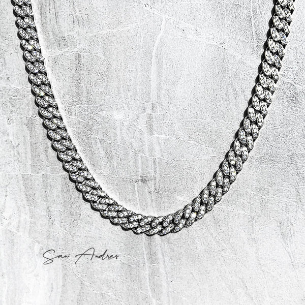 Iced out platinum cuban chain - San Andrés