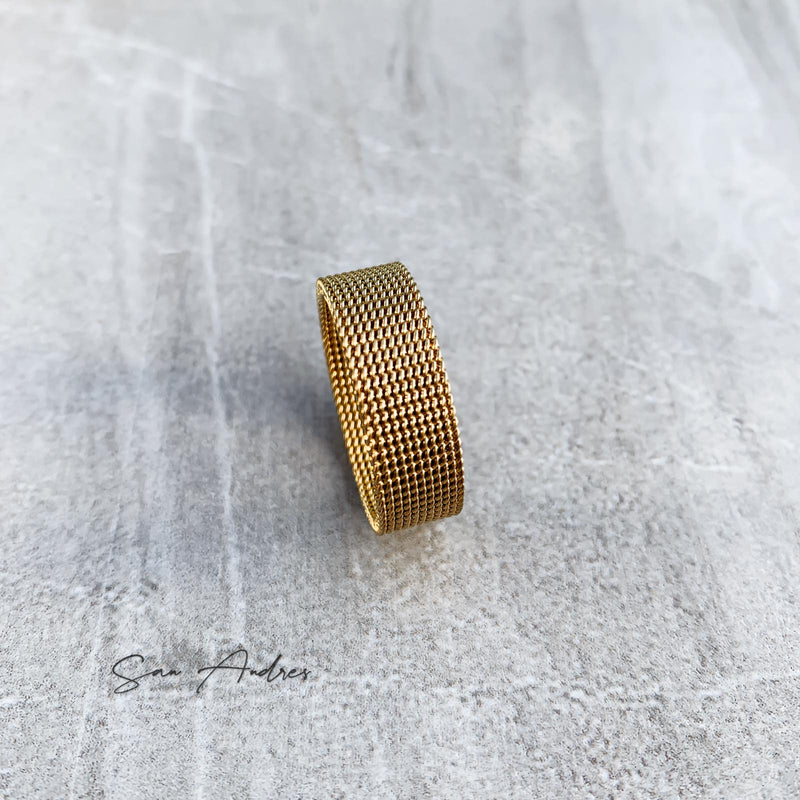 Gold Mesh Ring - San Andrés
