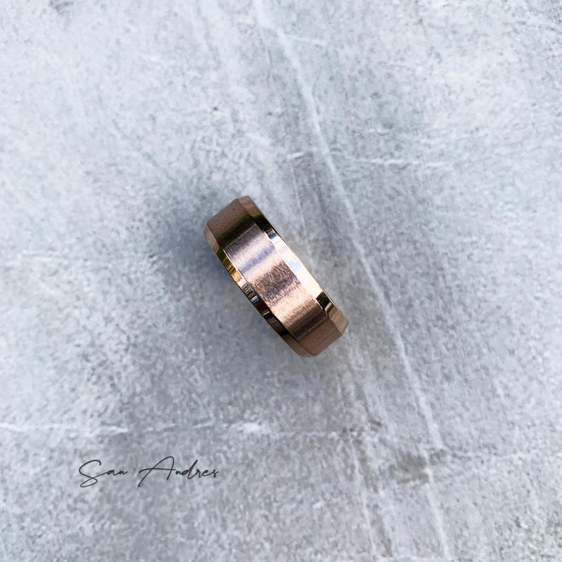 Rose Gold Steel Ring - San Andrés