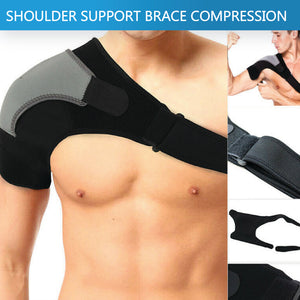 Adjustable Shoulder Support Brace Strap Heat Patch