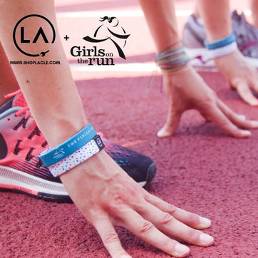 A motivational bracelet that supports the charity, Girls on the Run.