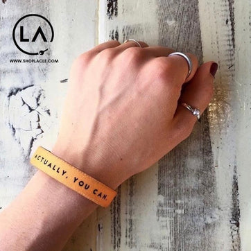 A motivational bracelet that will ward off negative thinking.