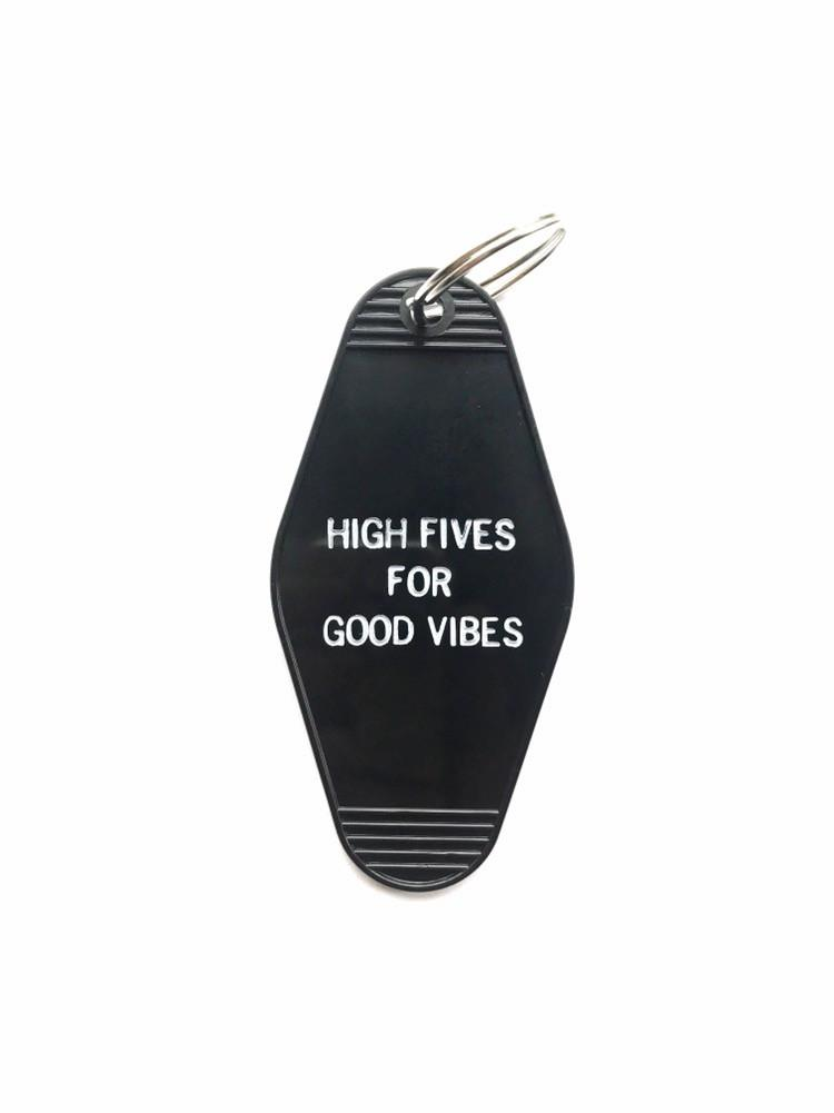 Hotel-Motel Key Chain High Five For Good Vibes - La Clé