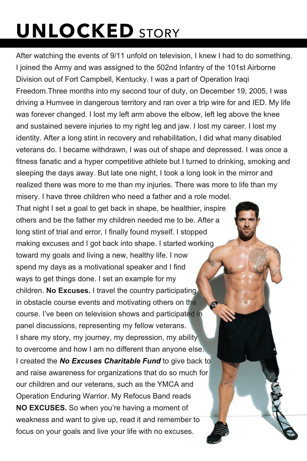 Noah Galloway - The Unlocked Project - La Clé