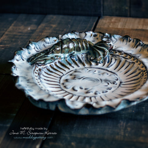 Blue Crawfish (Krevis Blé) Decorative Plate