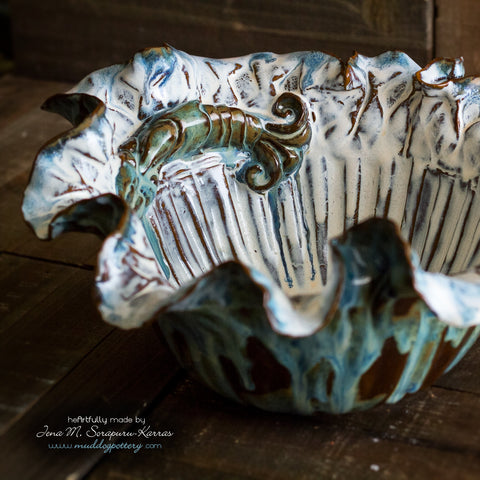 Blue Crawfish Large Serving Bowl