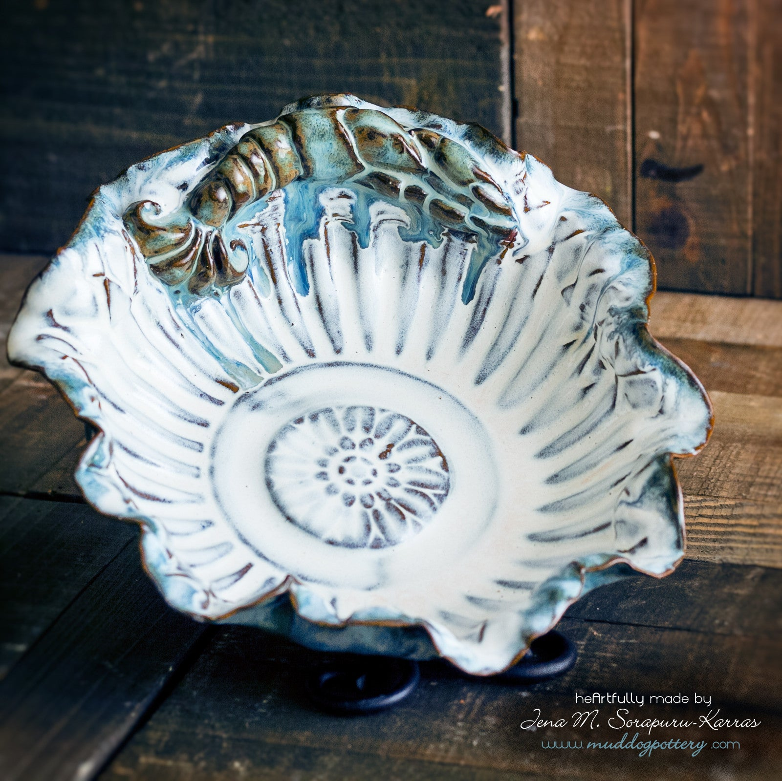 Blue Crawfish (Krevis Blé) Small Serving Bowl