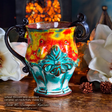 Fleur de Lis Teacup (The Creole House Collection)