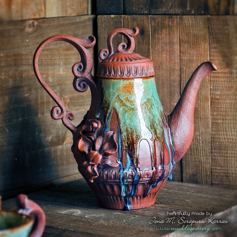 Louisiana Iris French Drip Teapot ( The Creole Courtyard Collection )