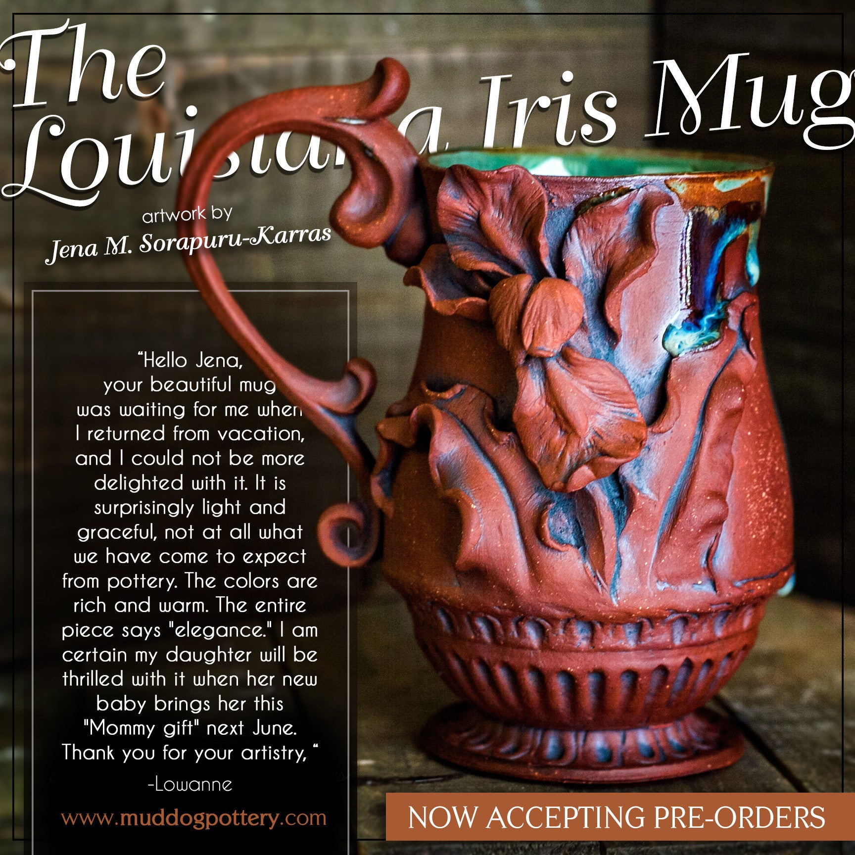 Louisiana Iris Coffee Mug ( The Creole Courtyard Collection )