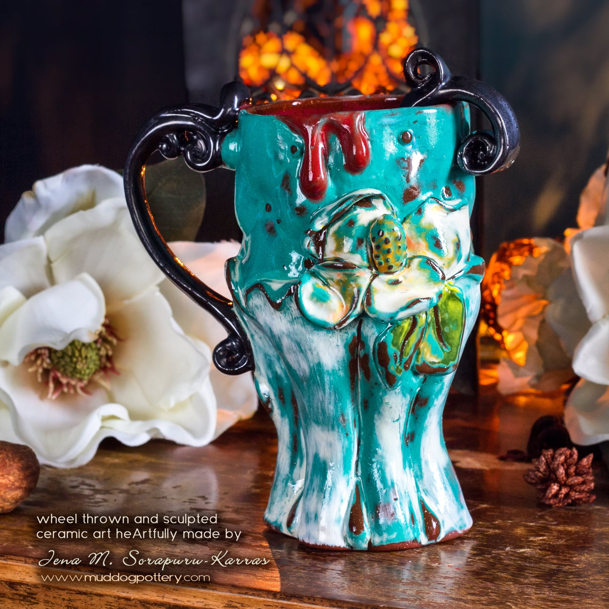 Magnolia Teacup (The Creole House Collection)