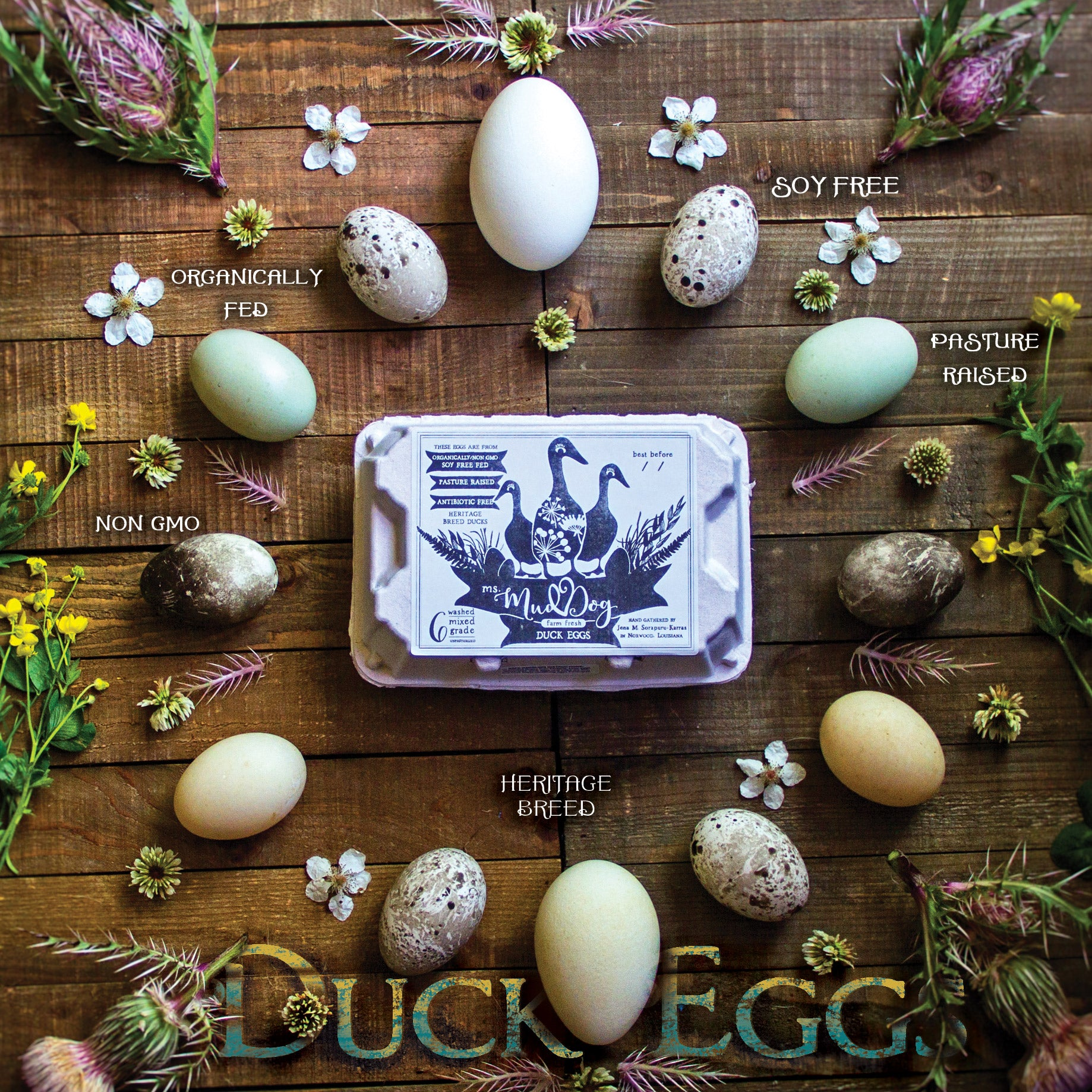 Duck Eggs (Organically Fed | Non-GMO | Pasture Raised | Extra Large) PICK-UP ONLY in Zachary and Clinton