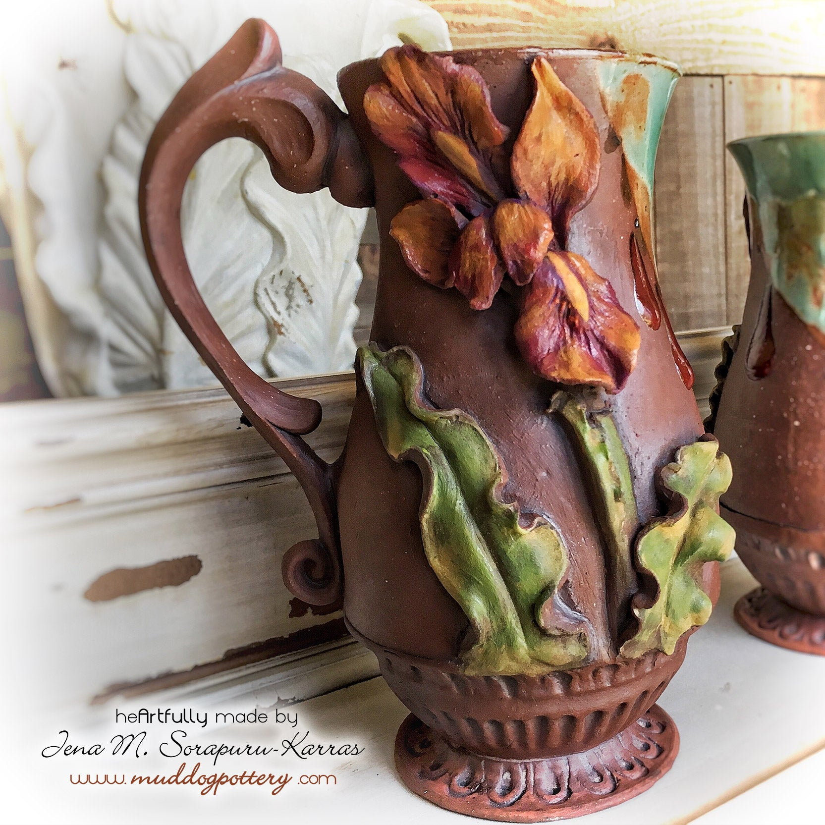 Creole Flame Louisiana Iris Coffee Mug ( The Creole Courtyard Collection )