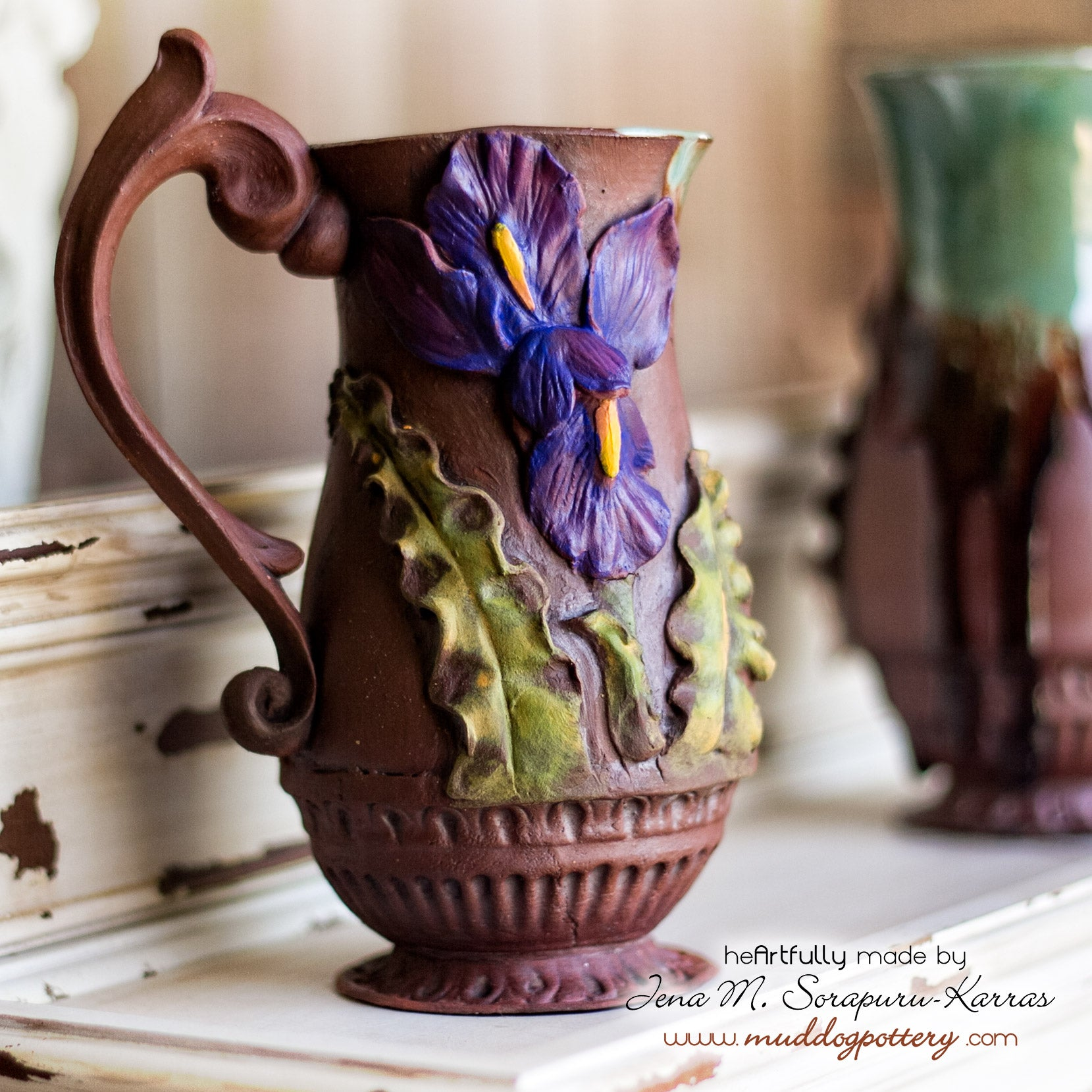 Deja Voodoo Louisiana Iris Coffee Mug ( The Creole Courtyard Collection )