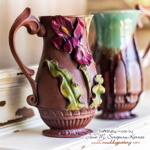 Zydeco Louisiana Iris Coffee Mug ( The Creole Courtyard Collection )