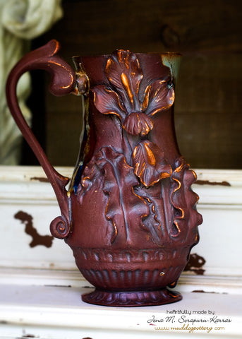 Louisiana Iris Coffee Mug, Gilded ( The Creole Courtyard Collection )