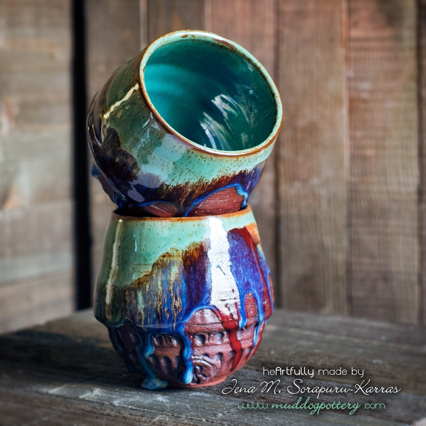 Bayou Rain Wine Cup Set ( The Creole Courtyard Collection )