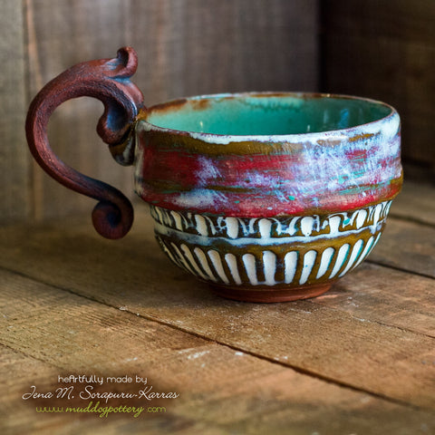 Peeling Paint Cappucino/Double Espresso Mug ( The Creole Courtyard Collection )