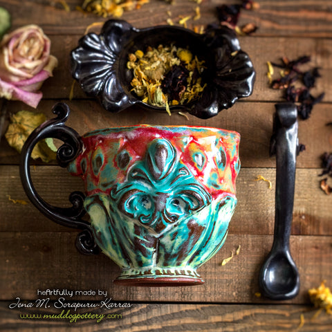 The Creole House Teacup Set