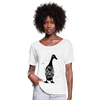 Crazy Duck Lady | Women's Flowy T-Shirt - white