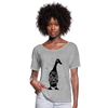 Crazy Duck Lady | Women's Flowy T-Shirt - heather gray