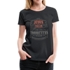 Jesus Freak with Tourette's Women's Premium T-Shirt - black