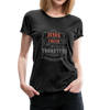 Jesus Freak with Tourette's Women's Premium T-Shirt - charcoal gray