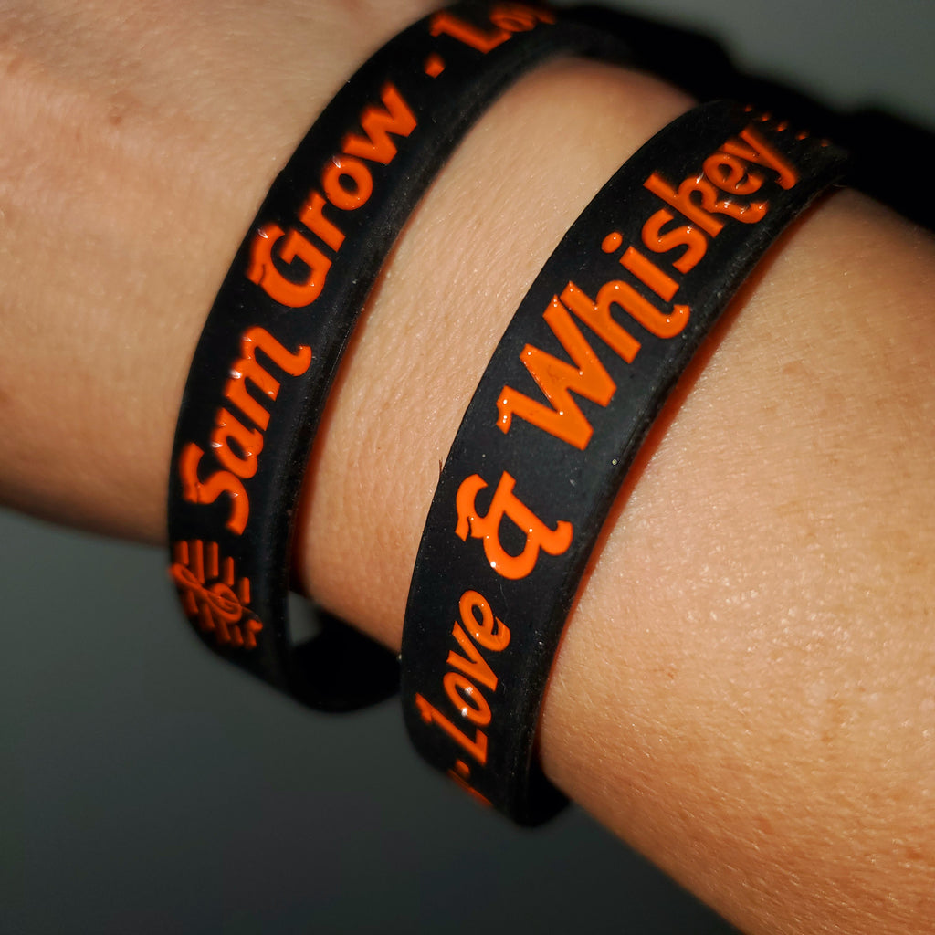 Sam Grow - Love & Whiskey wristband