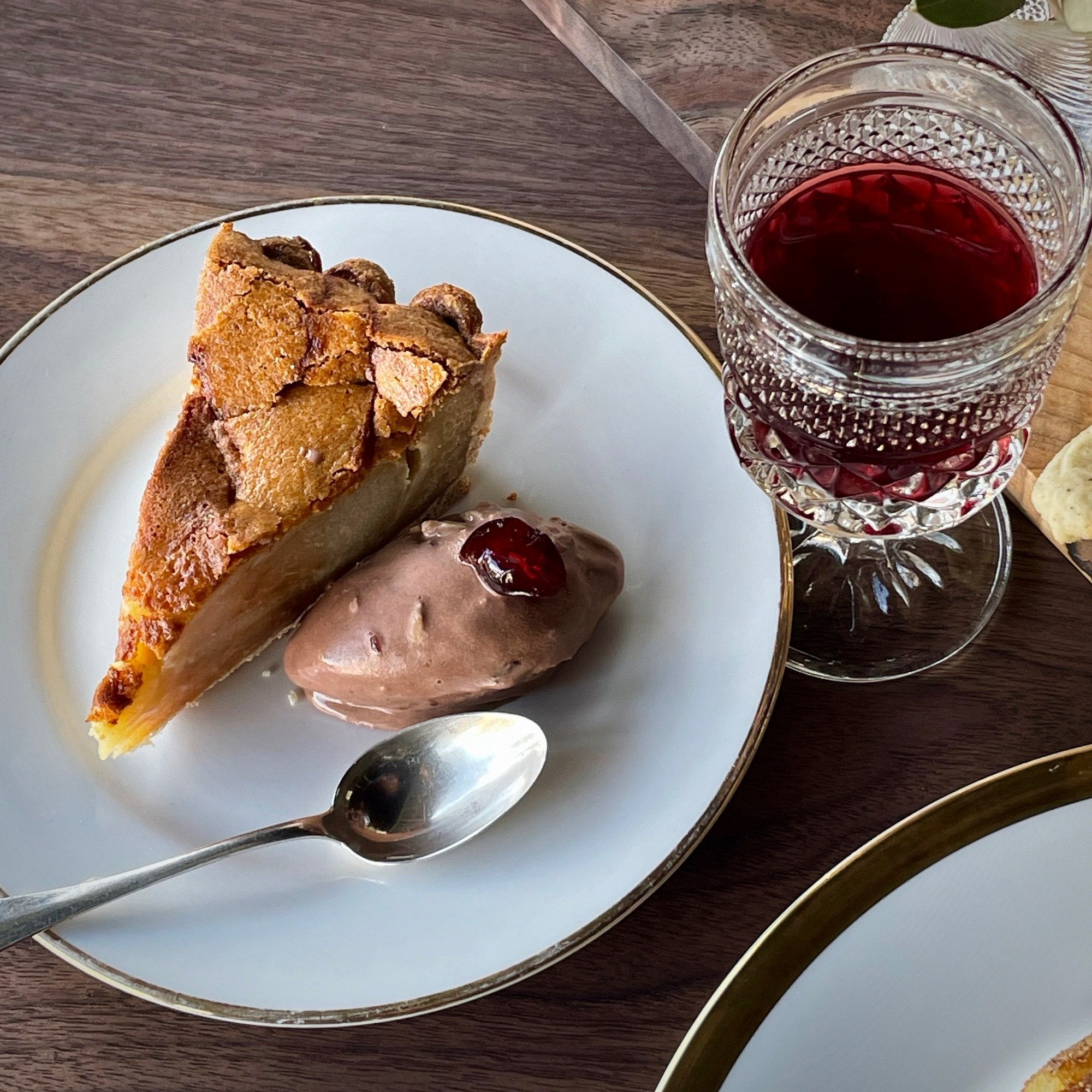 Brown Butter & Poached Pear Tart