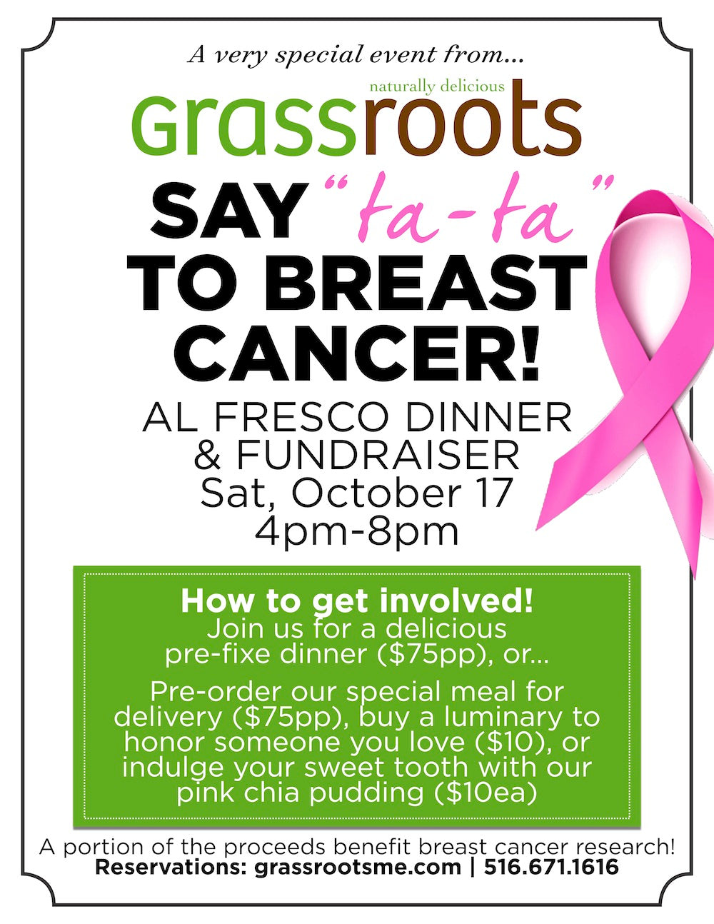 "[EVENT] Grassroots Say ""Ta-Ta"" to Breast Cancer Al Fresco Dinner"