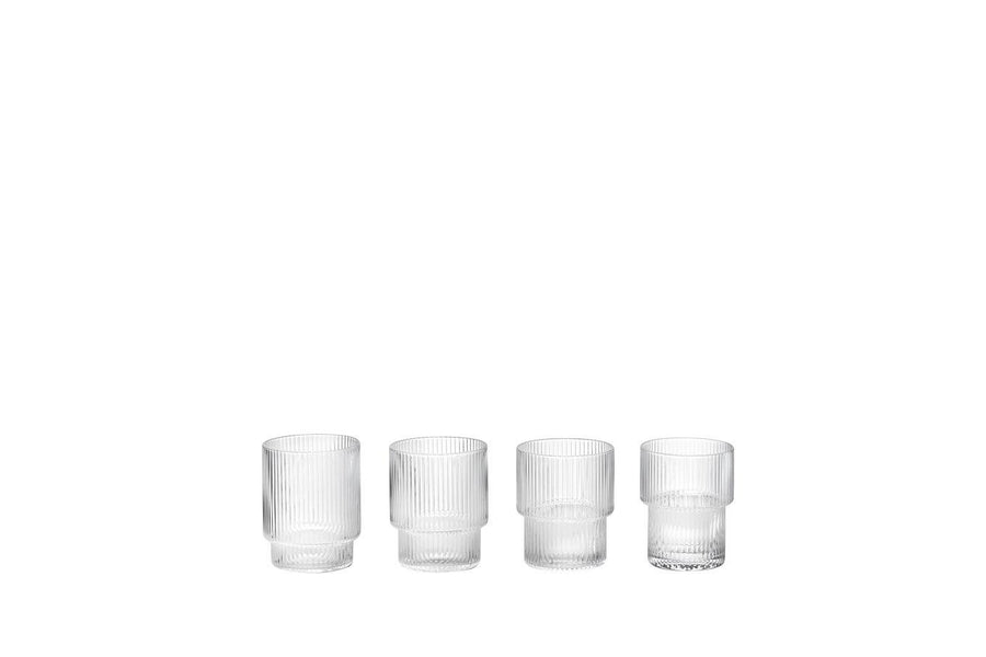 Ripple Glas (Set of 4) - le SHOP Bonn