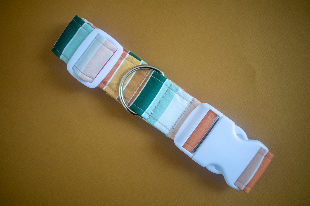 Harvest Stripes Dog Collar