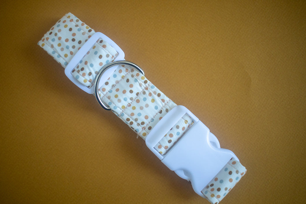 Honey Chestnut Dots Dog Collar