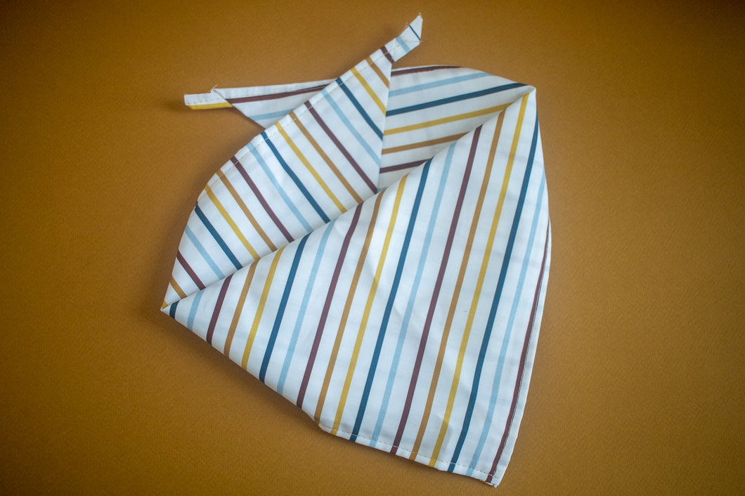 Caramel Latte Mini Stripes Bandana