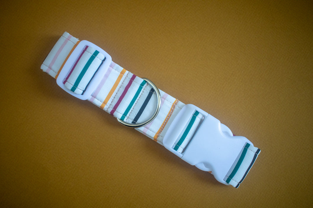 Candy Apple Mini Stripes Dog Collar