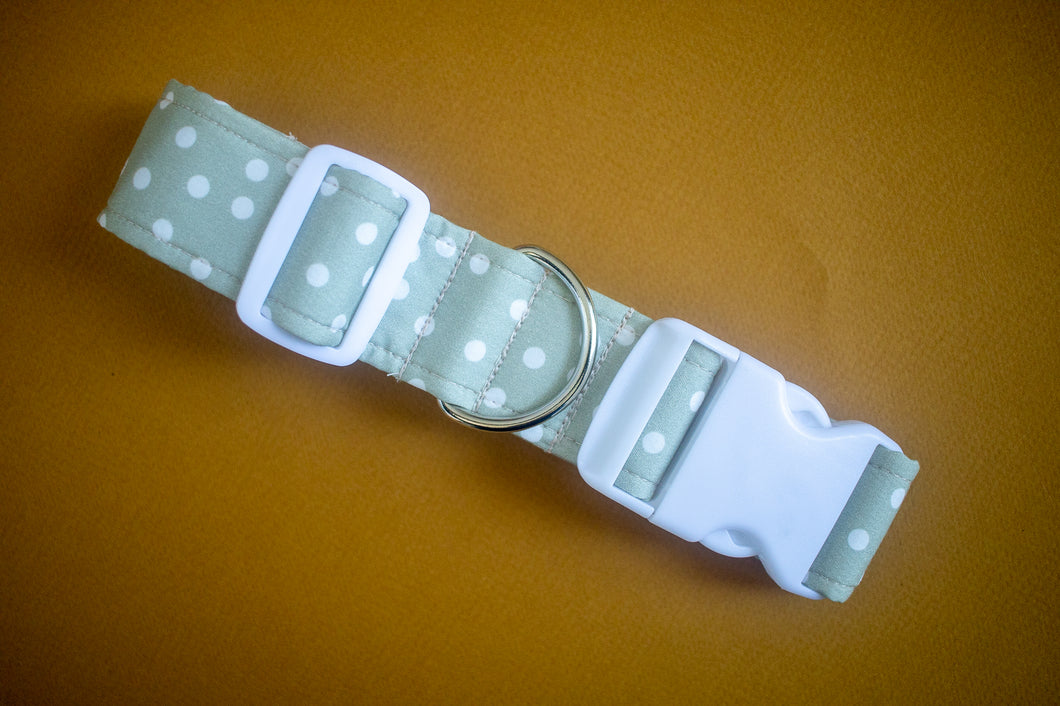 Dots in Sage Dog Collar