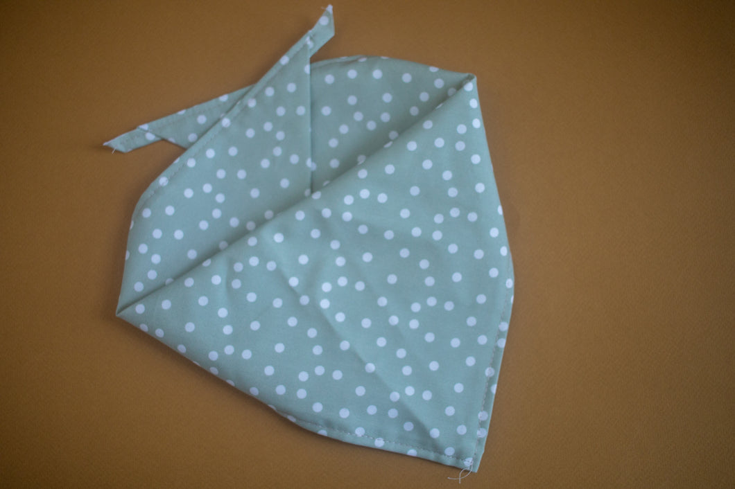 Dots in Sage Bandana