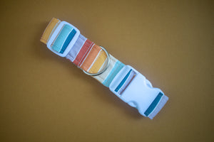 Sunset Stripes Dog Collar