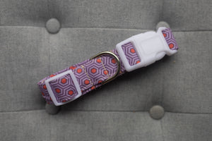 Geo Hex Collar in Purple & Red