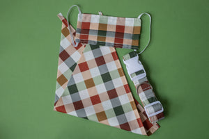 Present Gingham Dog Collar