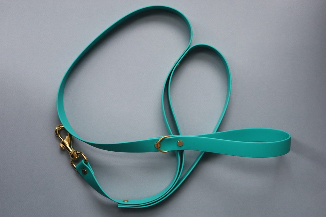 SINGLE COLOR Biothane Leash w/ Traffic Lead Attachment