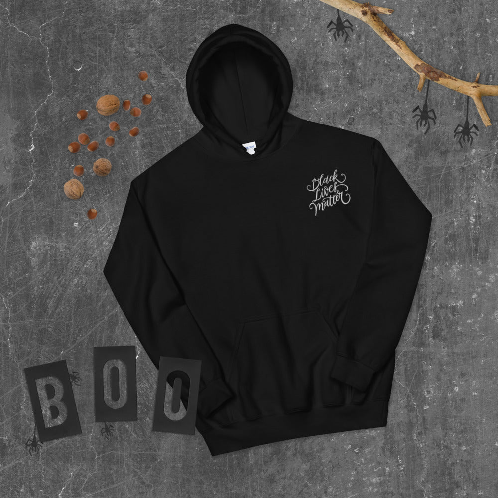 BLM | Black Lives Matter EMBROIDERY Hoodie | Script Design