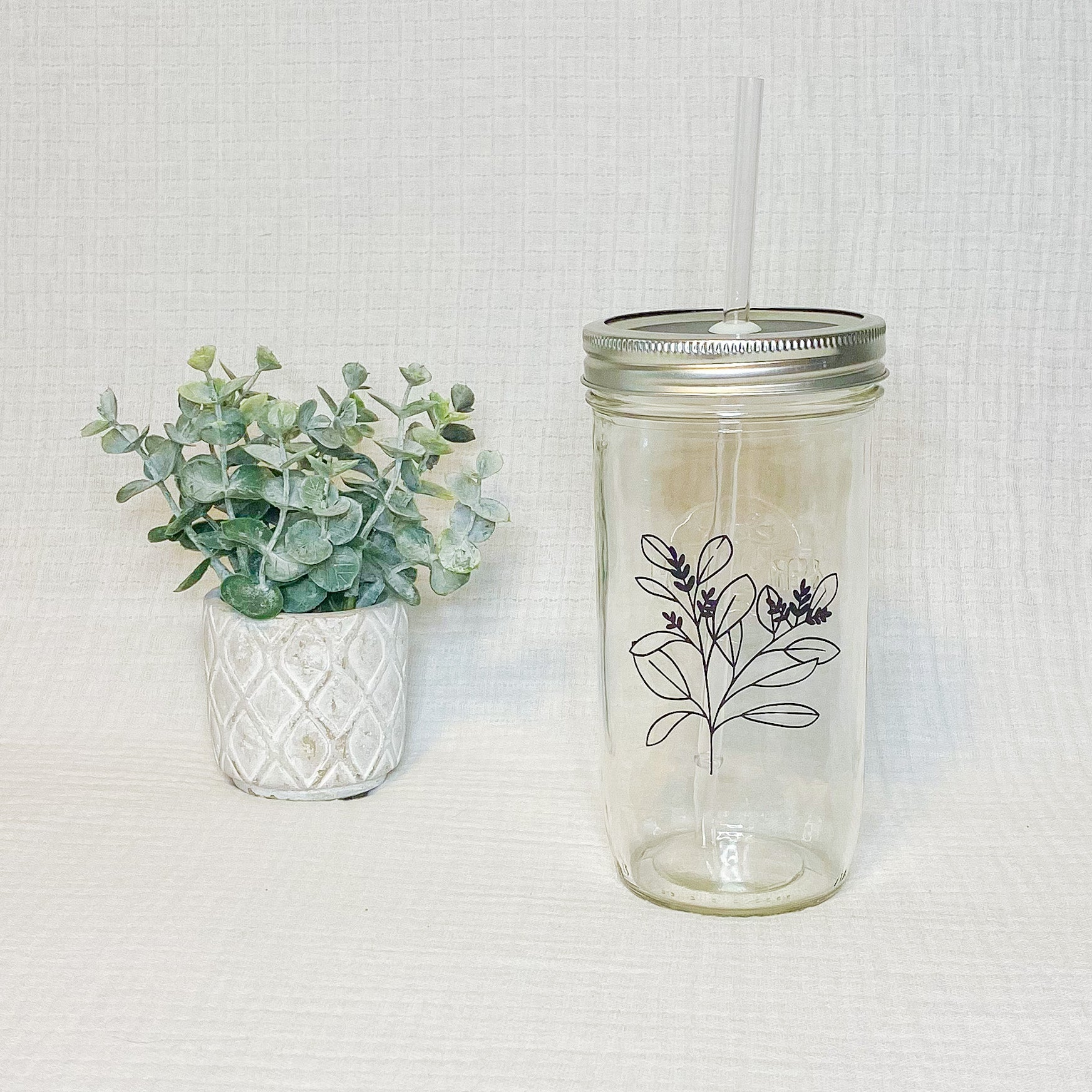 River and Lace Glass Tumbler