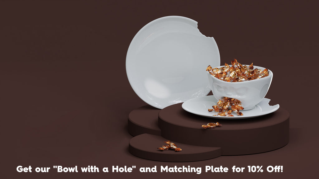 Buy Bowl with Hole and Plate at discount from FIFTYEIGHT PRODUCTS