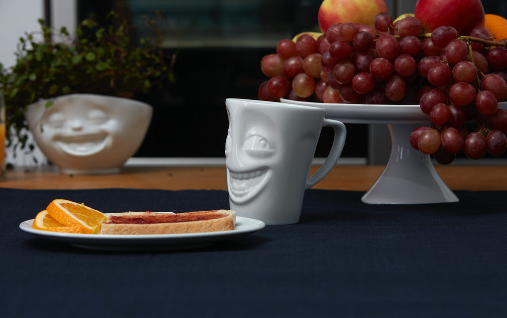 Coffee Mugs by FIFTYEIGHT Products featuring funny faces in premium porcelain.