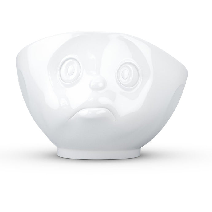 16 ounce capacity porcelain bowl featuring a sculpted 'sulking' facial expression. From the TASSEN product family of fun dishware by FIFTYEIGHT Products. Quality bowl perfect for serving cereal, soup, snacks and much more.